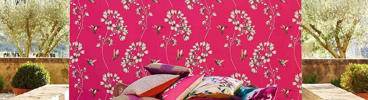 Tapeten mit floralem Muster