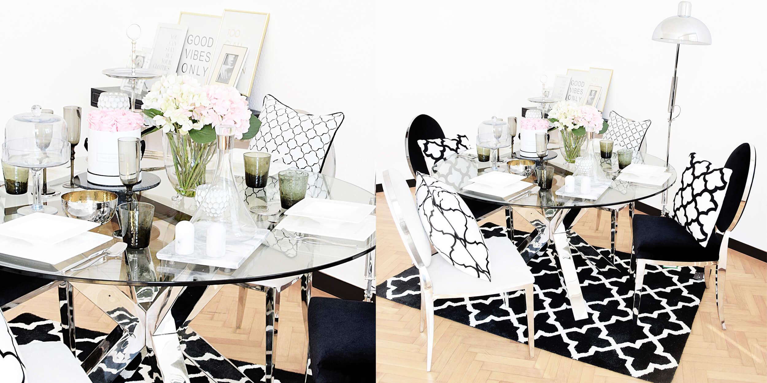 Dinner-Look im Schwarz-Weiß Style