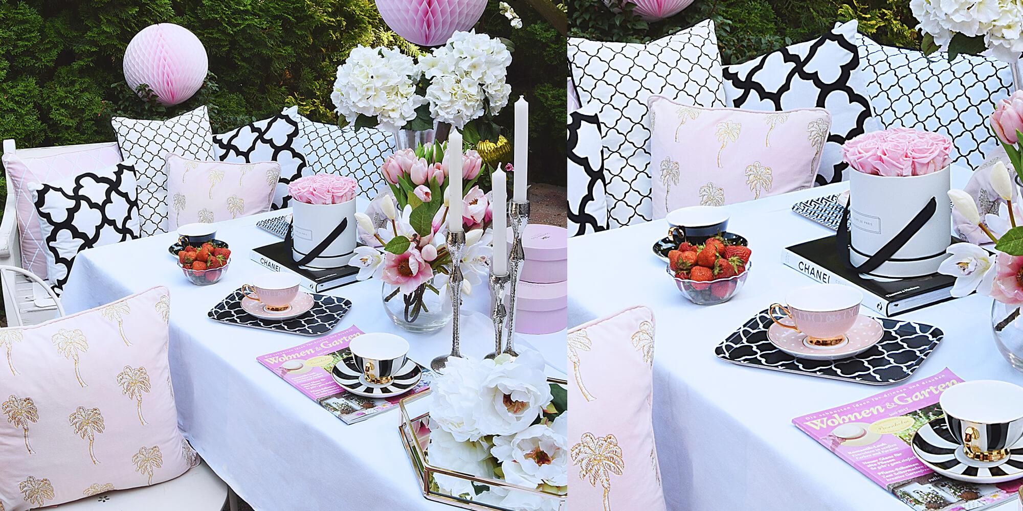 Gartenparty! Deko in Pastellrosa