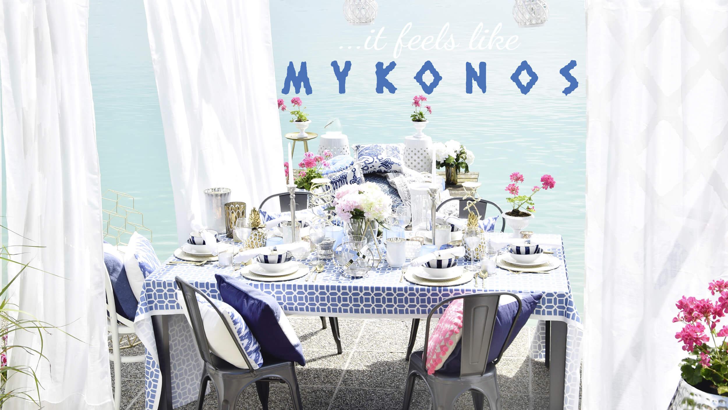 Mykonos Terrassen-Urlaubsfeeling
