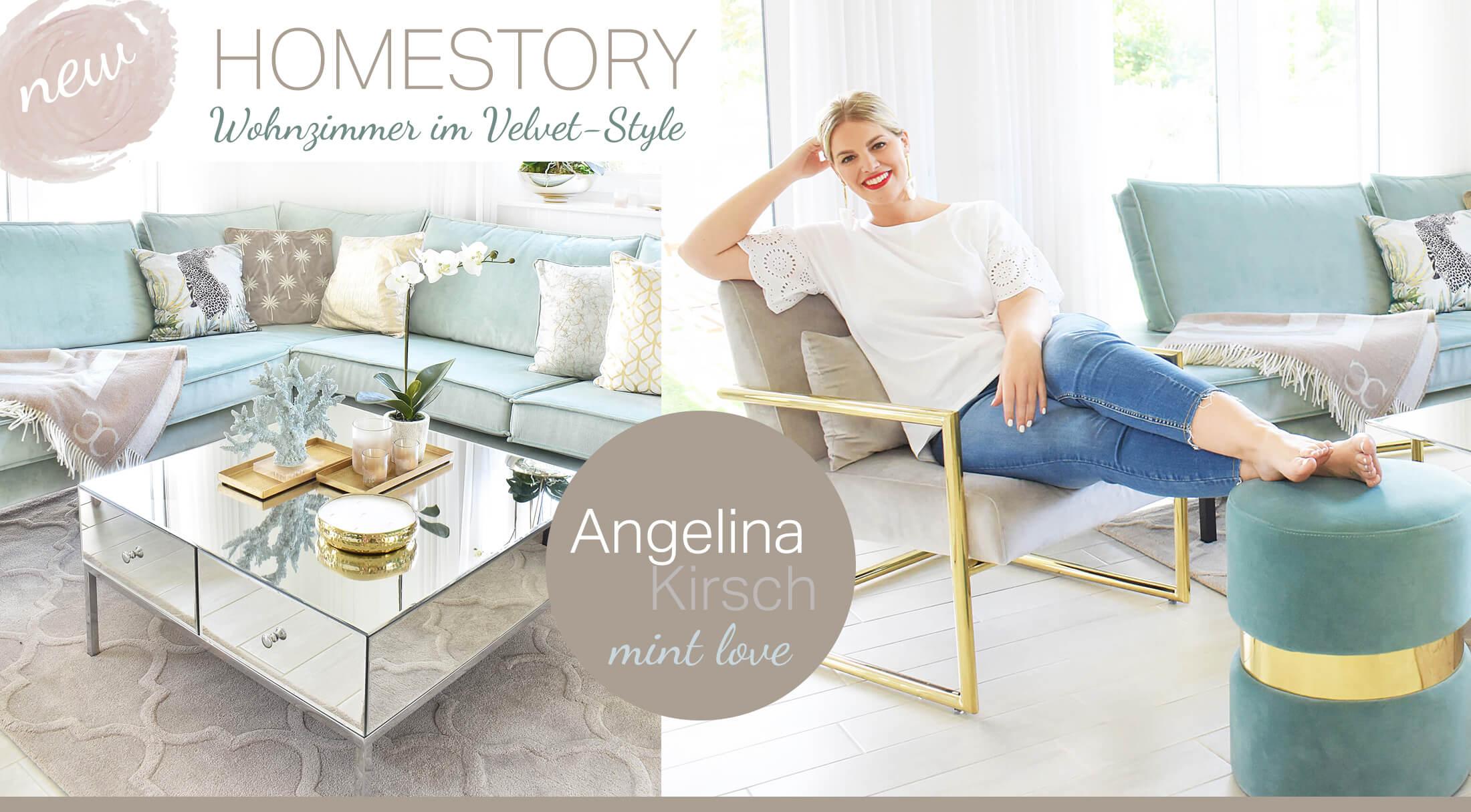 Mint Love Wohnzimmer! Homestory Angelina Kirsch