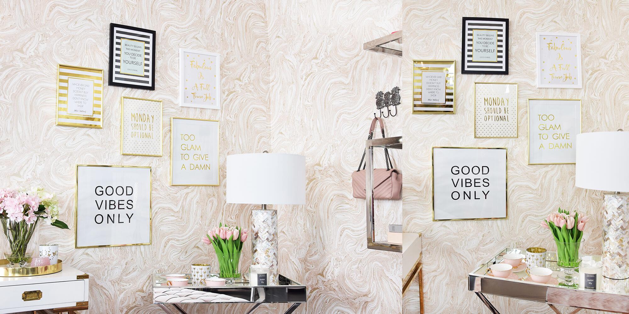 Wall of Glam: Wandbilder im eleganten Stil