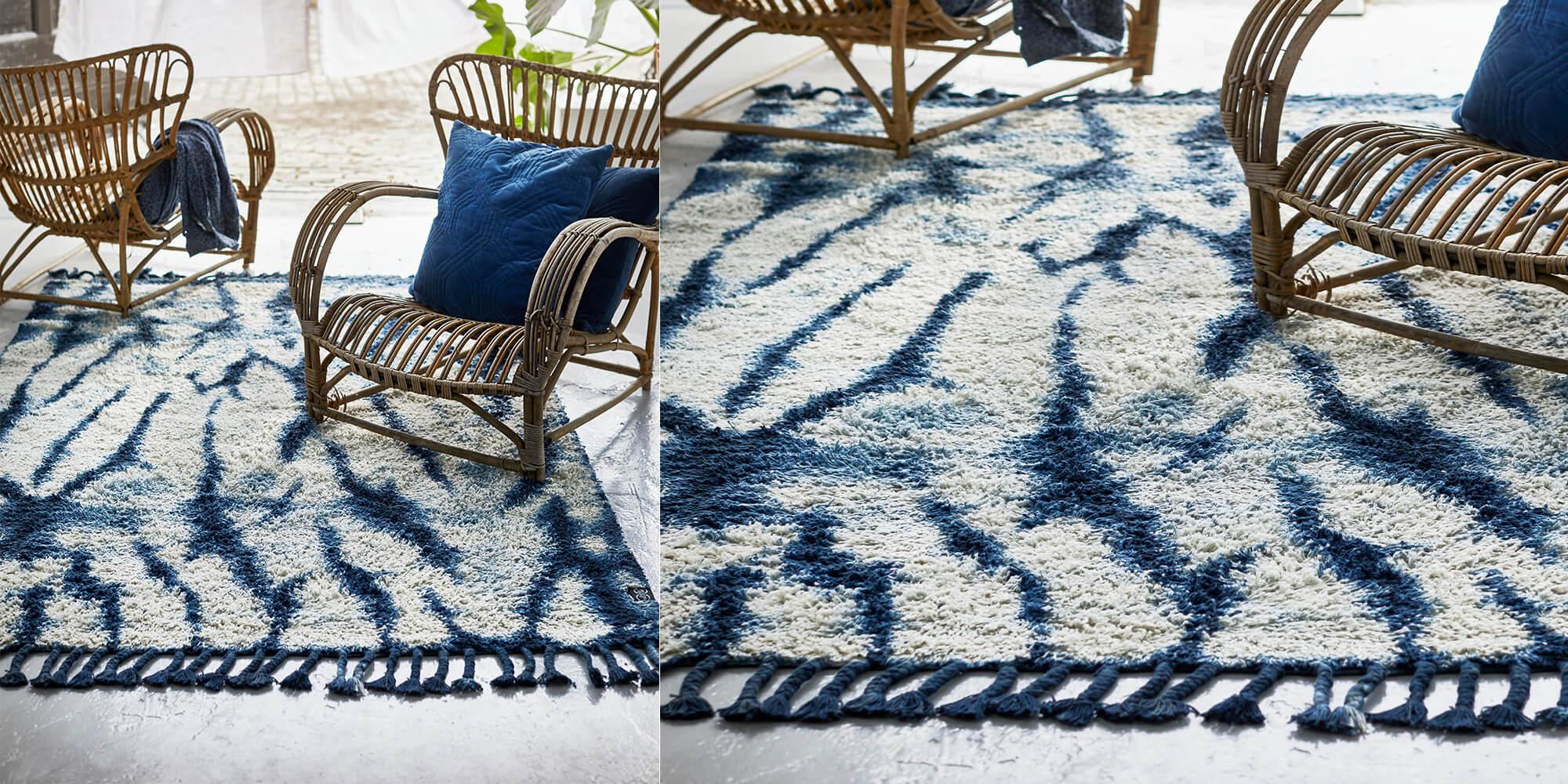 Strand-Feeling mit Batik-Teppich