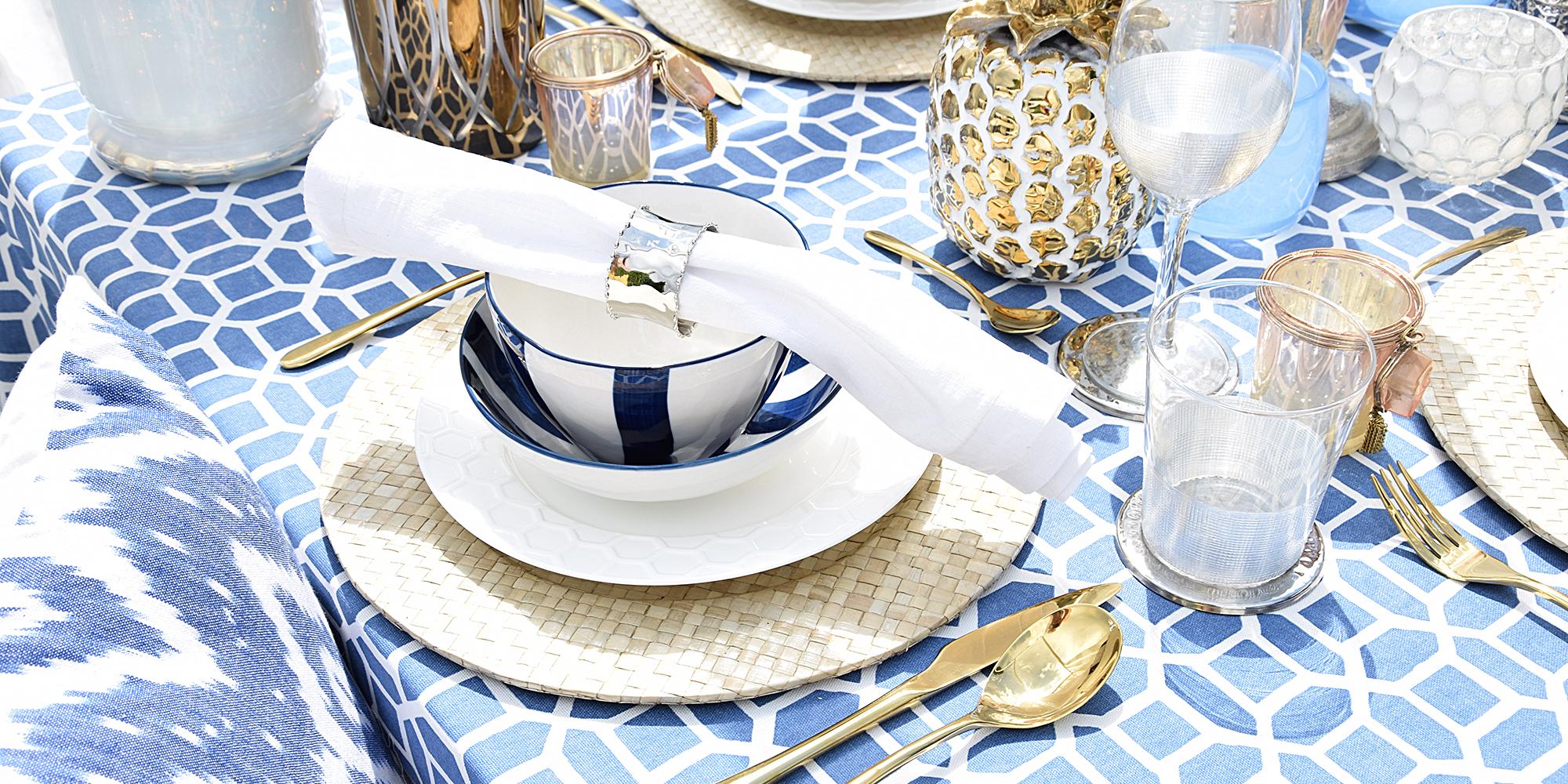 Tischdeko im Mykonos-Style