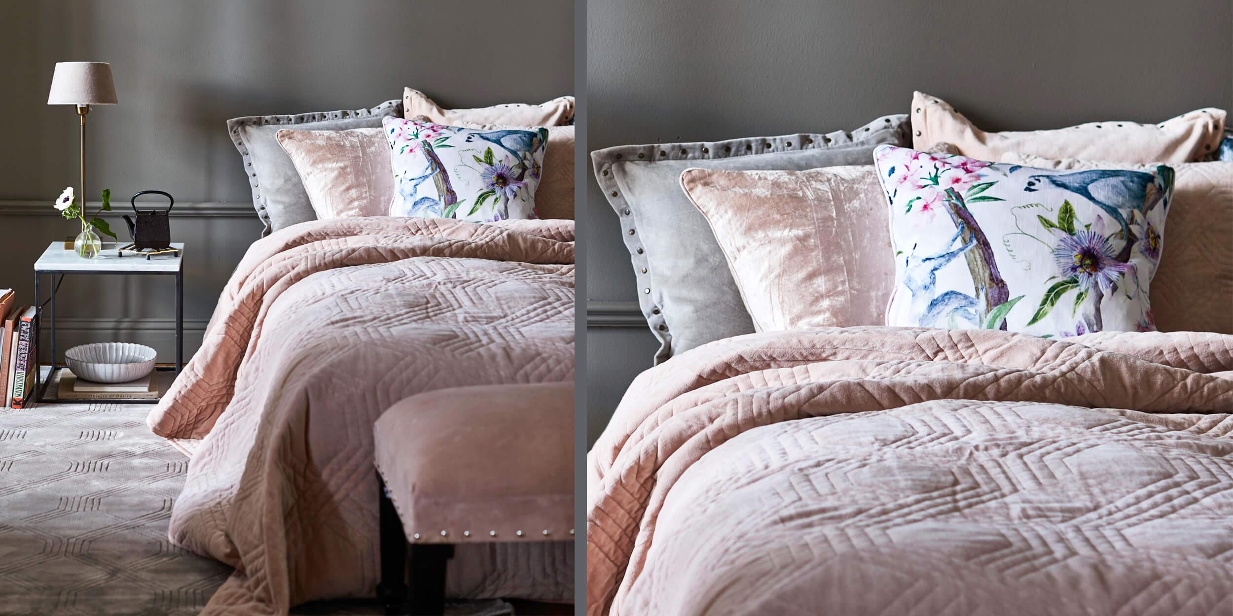Blush Pink Velvet Schlafzimmer Instashop