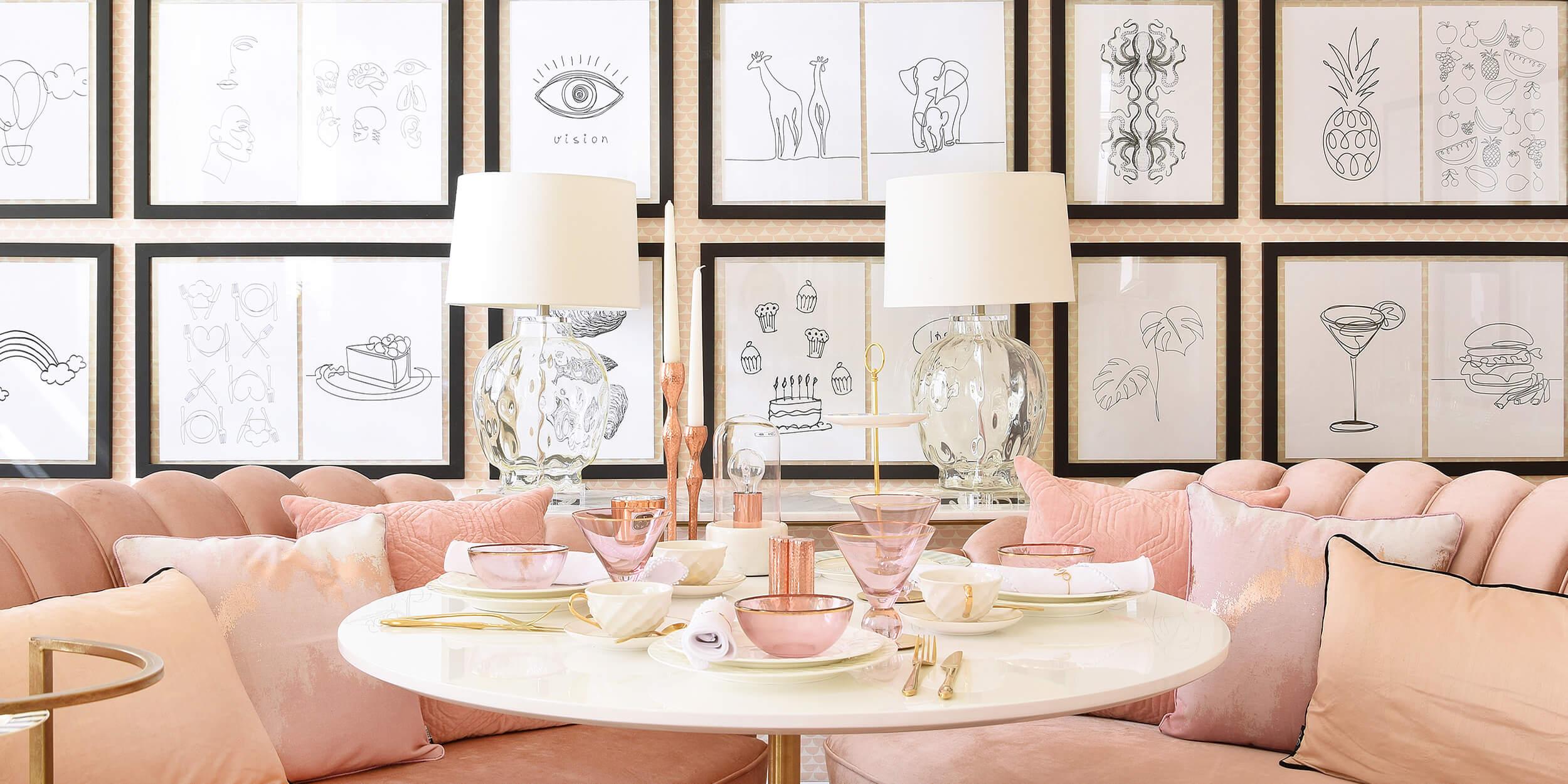 Ein Traum in Rosa – Stylishe Tafel & Samtige Sofas