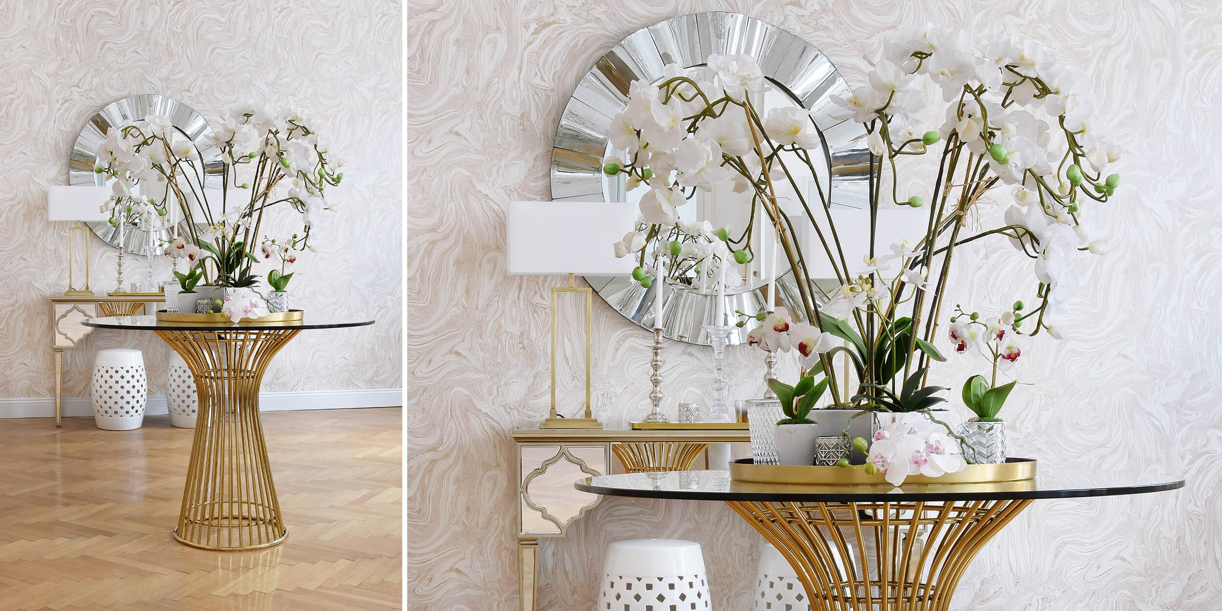 Karinas It Piece - runde Tische! Eleganter Eingangsbereich