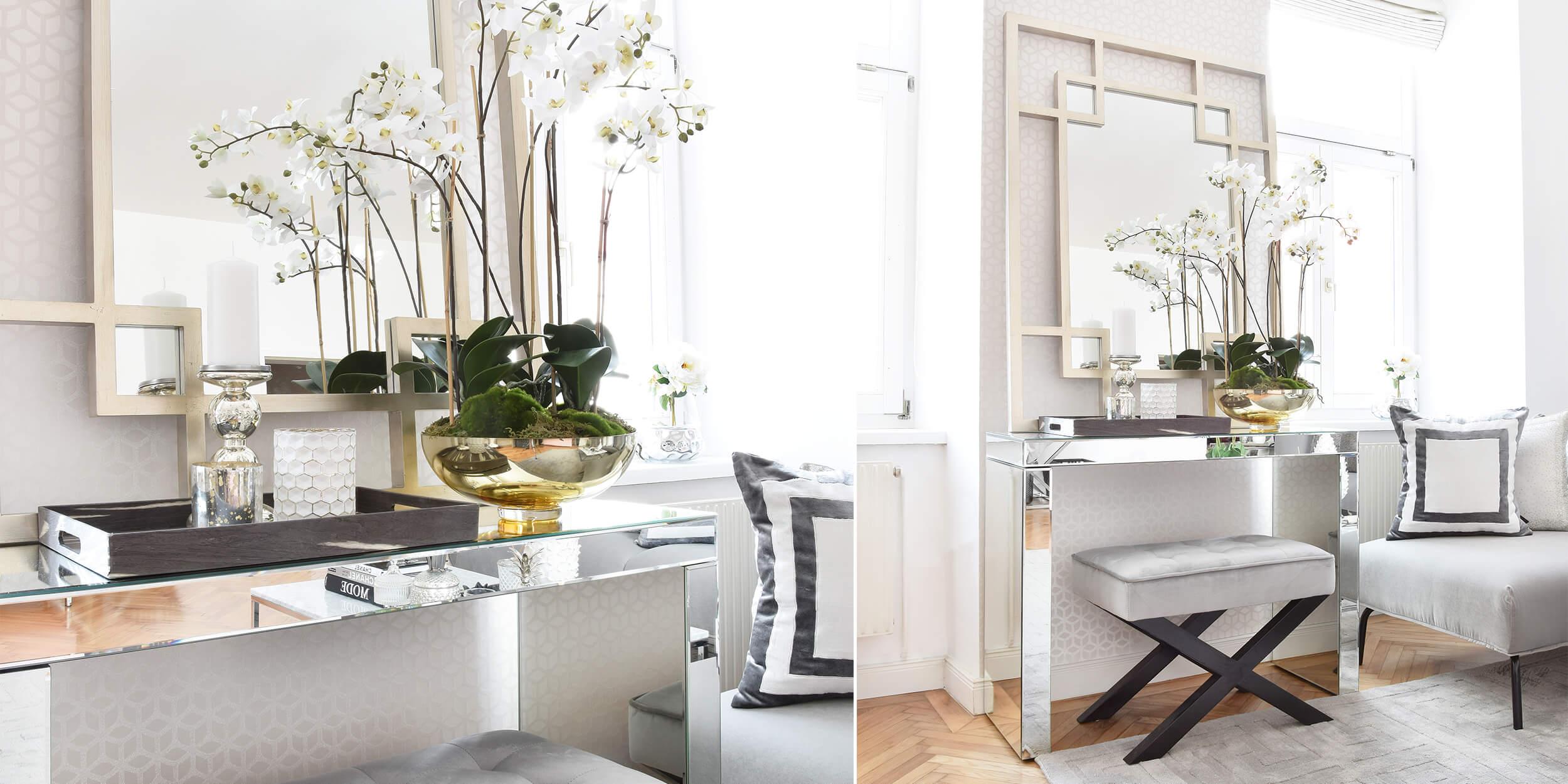 Elegant & Stylish: Verspiegelte Konsole