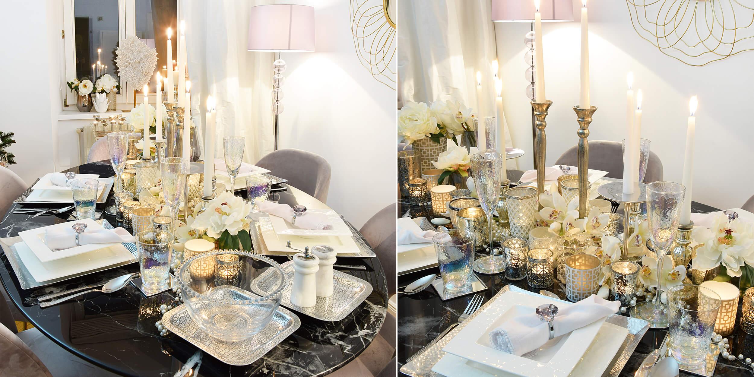 elegante Tischdeko für Silvester