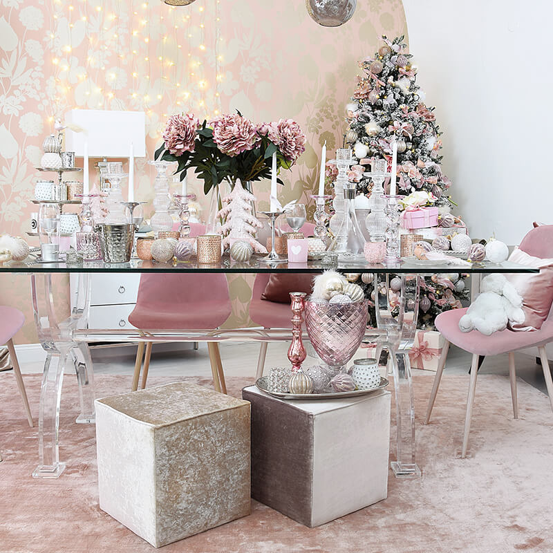Get the look: Blush christmas eve