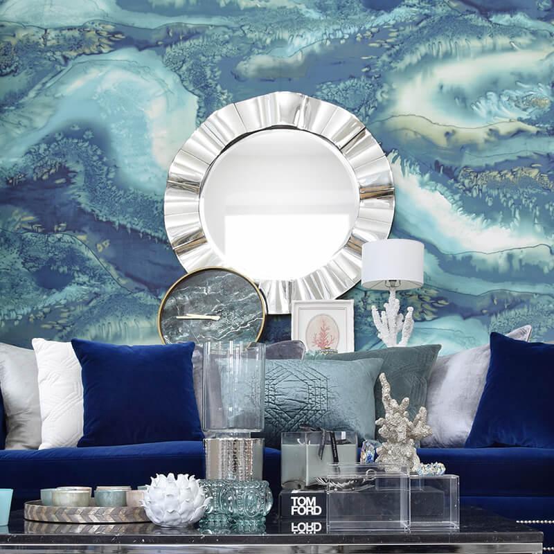 atemberaubendes Wandbild in Aqua-Tönen