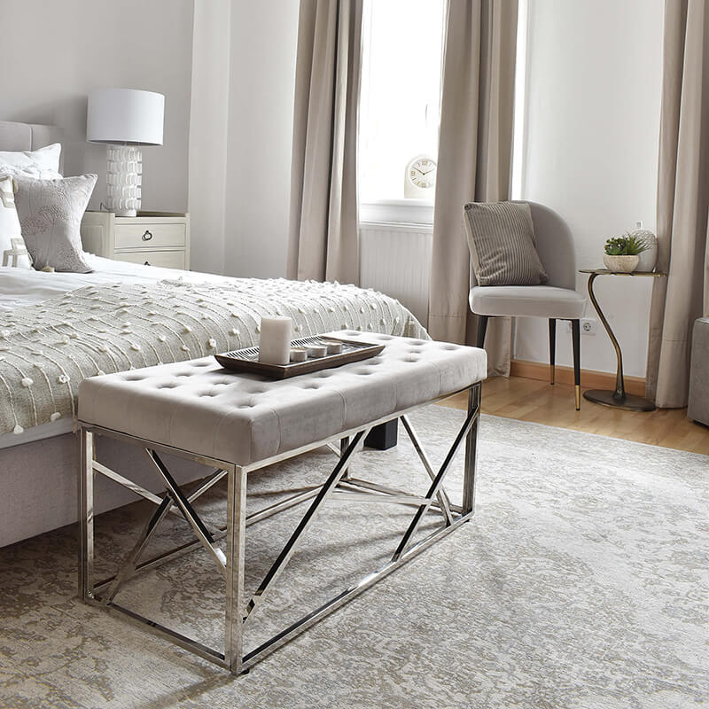 Luxus Upgrade: Samt Bettbank