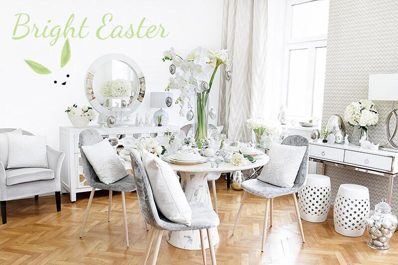 Bright Easter - strahlend Weiß & glänzend Silber