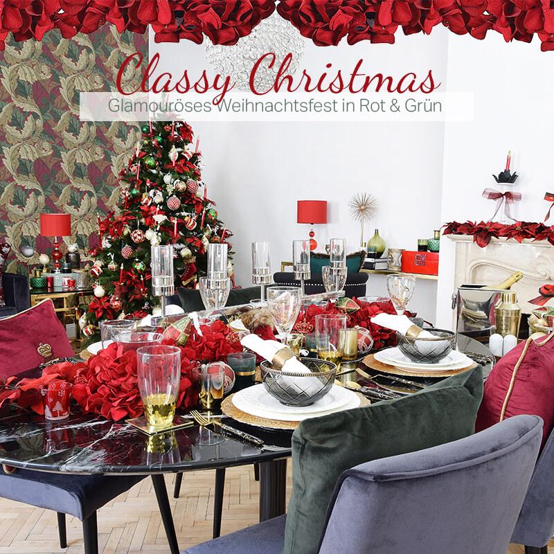 Neuer Look! Classy Christmas - Glamouröses Weihnachtsfest in Rot & Grün