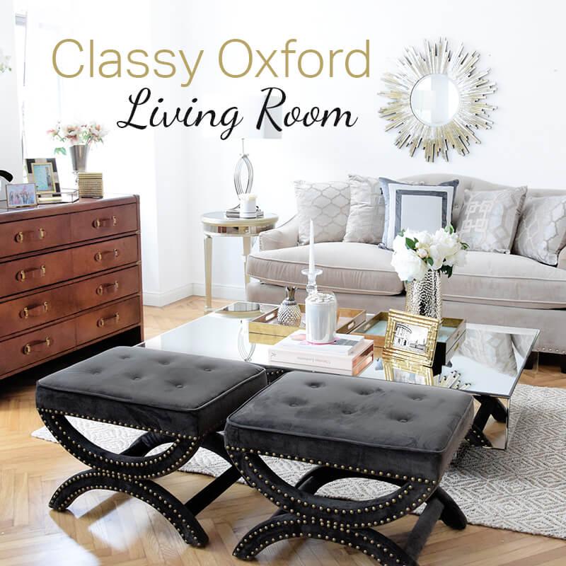 Neuer Look! Classy Oxford Wohnzimmer