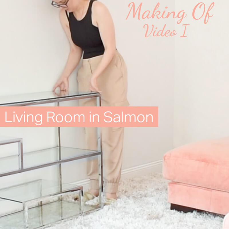 Making Of Video I : Living Room in Salmon
