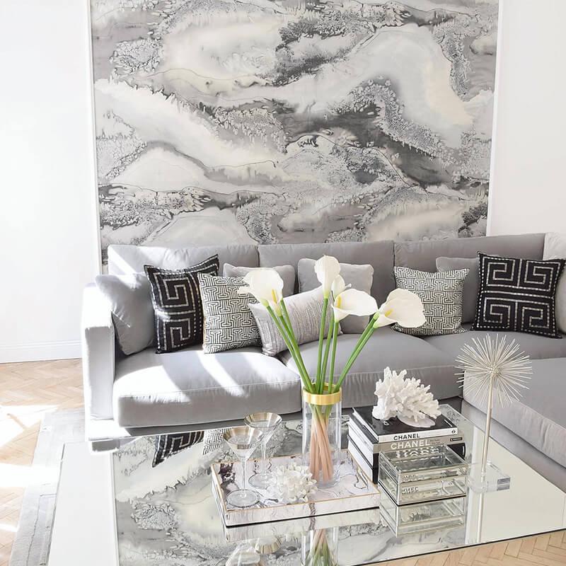 Wohnzimmer Blickfang: Das Wandbild