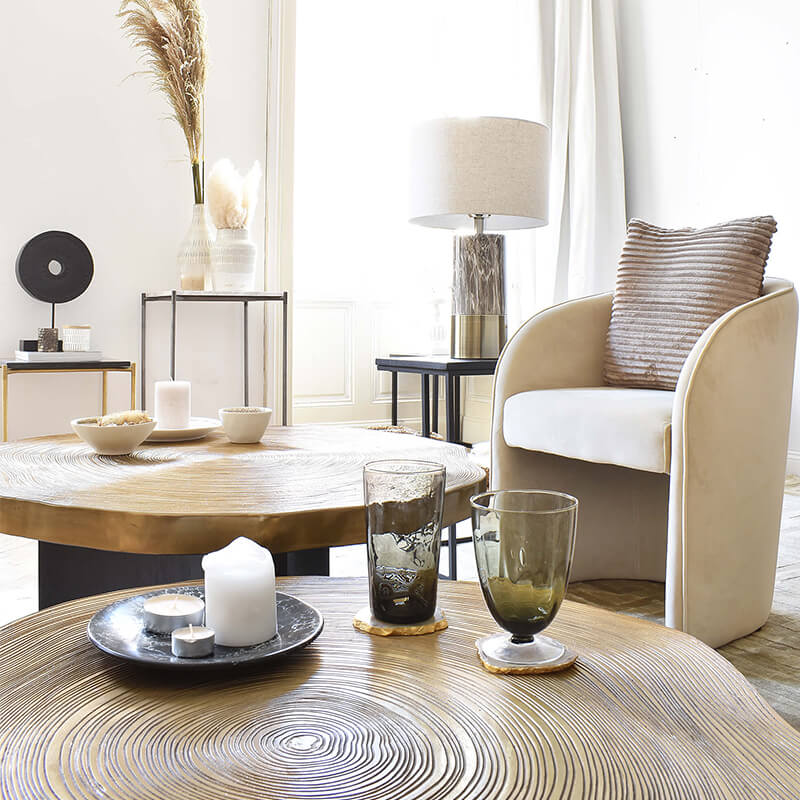 Modern Lounge Chairs in Beige
