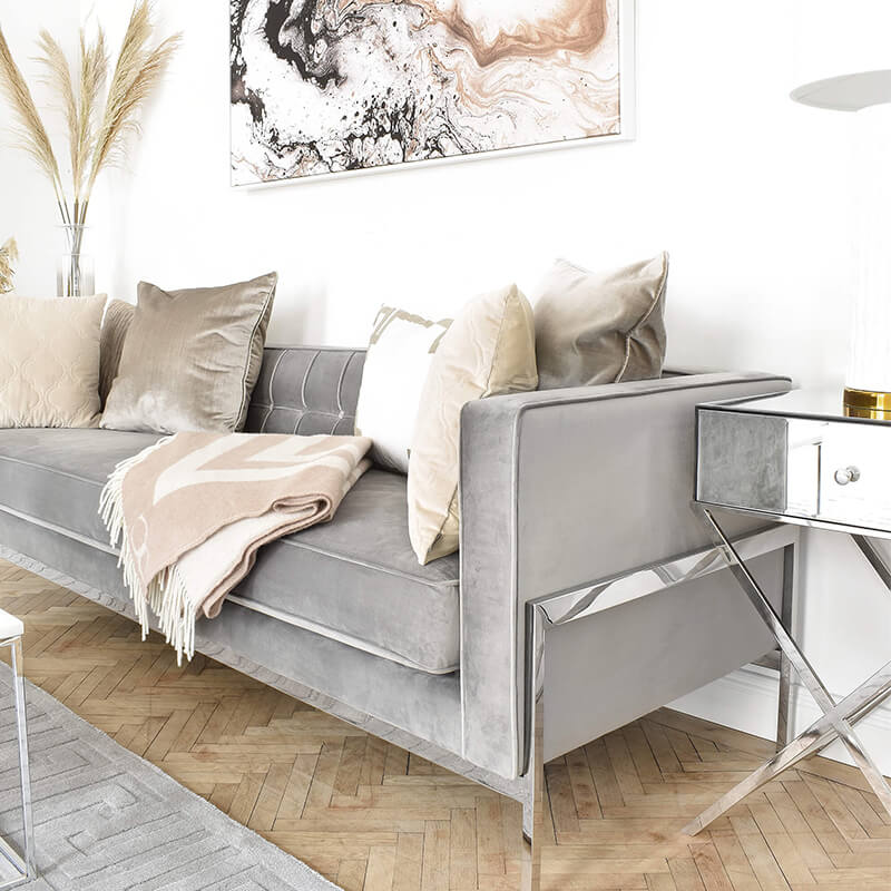 Wohnzimmer Dream Team Beige & Grau