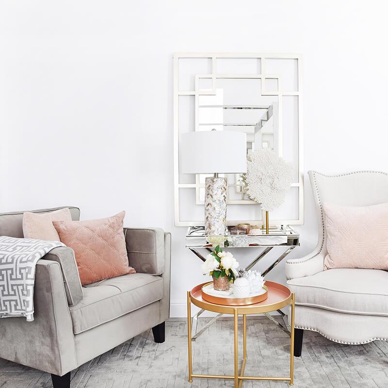 Homestory! Elegante Lounge-Ecke im Schlafzimmer