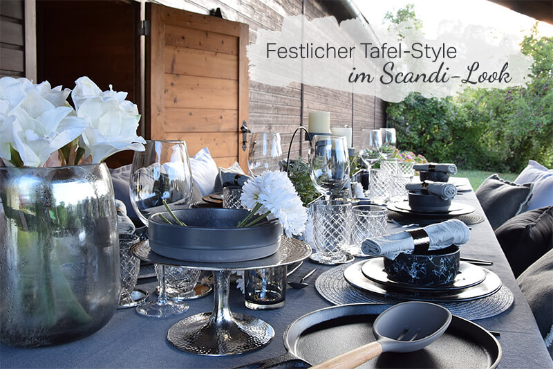 Outdoor-Tafel im Scandi-Look