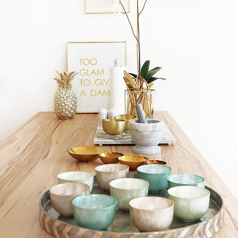 Küchen-Accessoires aus Marmor
