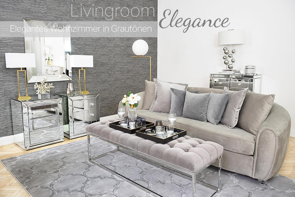 Livingroom Elegance - Elegantes Wohnzimmer in Grautönen