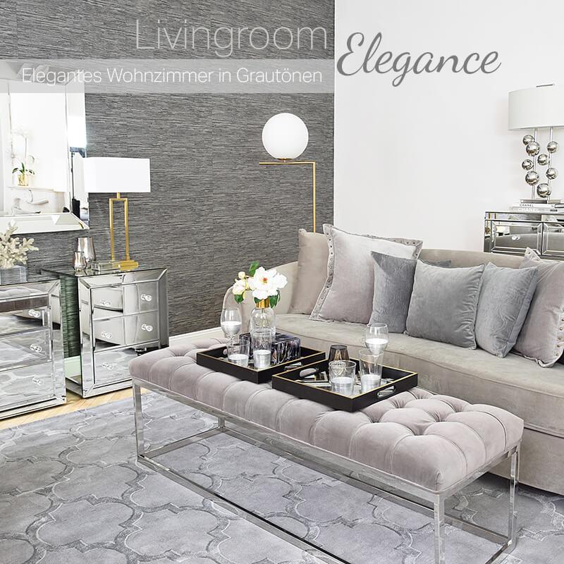 Neuer Look! Livingroom Elegance - Wohnzimmer in Grautönen