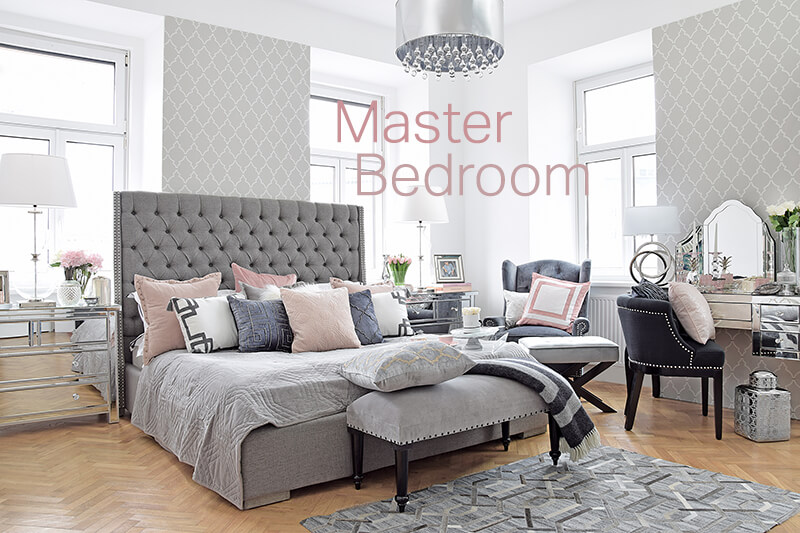 Master Bedroom - Schlafzimmer in Grau & Rosa