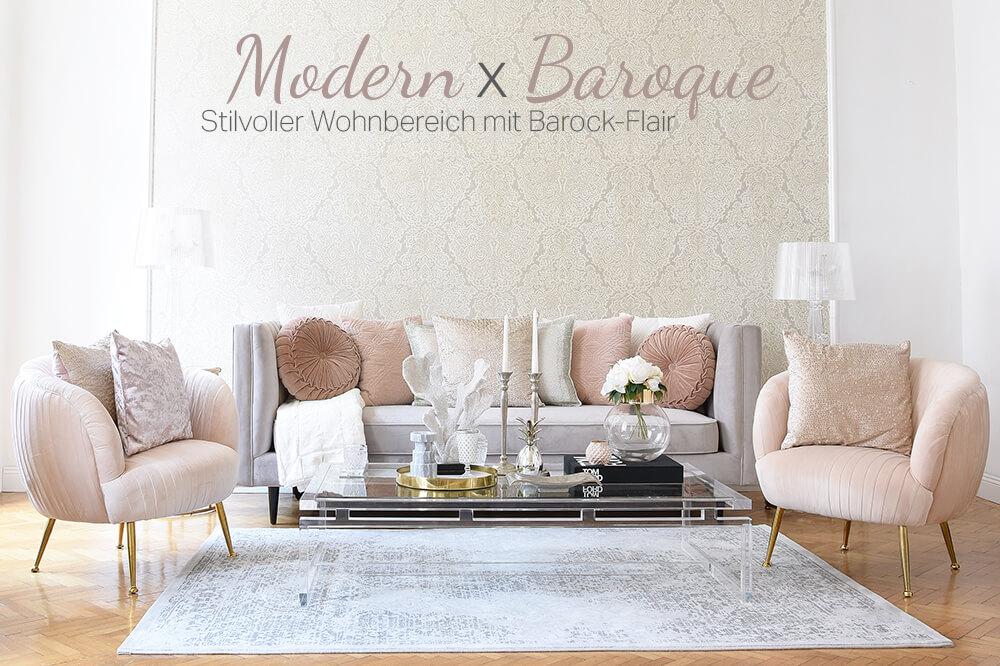 Modern Baroque - Stilvoller Wohnbereich mit Barock-Flair