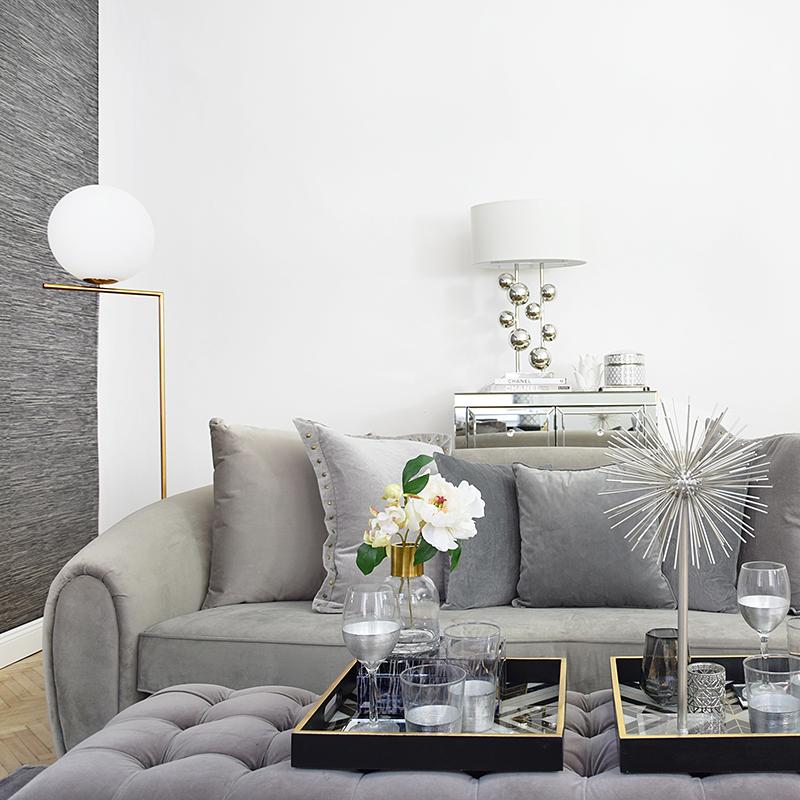 Wohnzimmer Highlight: gerundetes Sofa