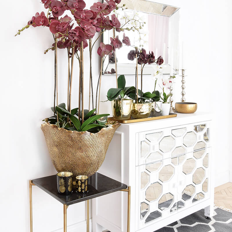 Orchideen-Kombi! Frühlingslook mit Kunstblumen