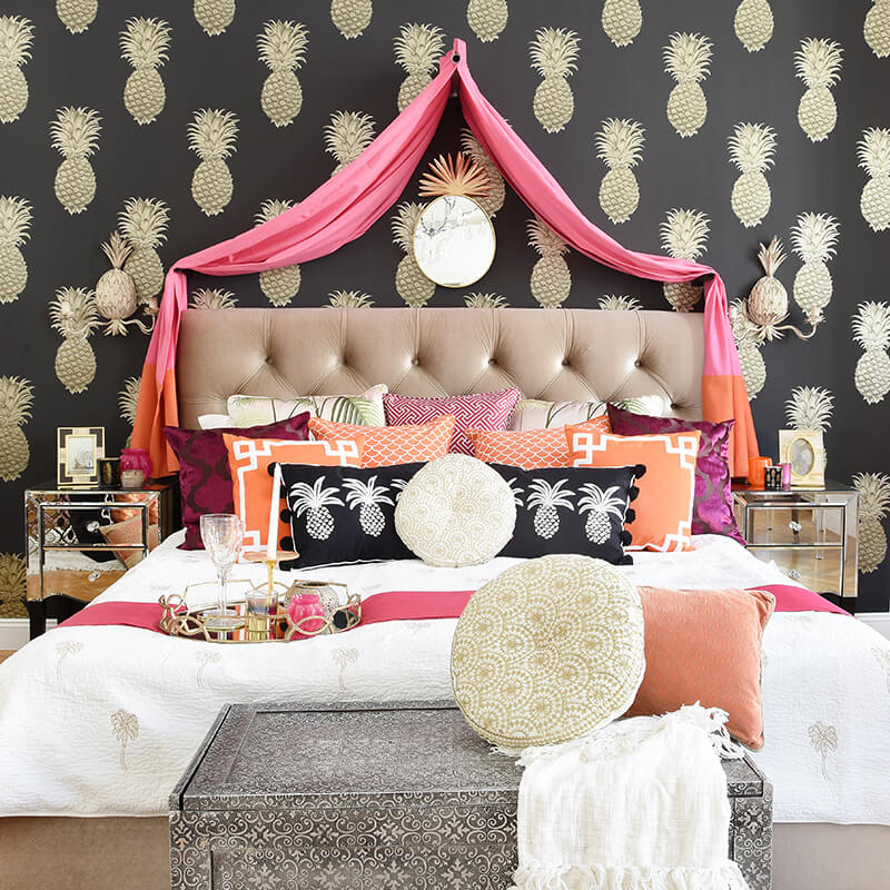 Oriental Bedroom - Schlafoase in Pink & Orange