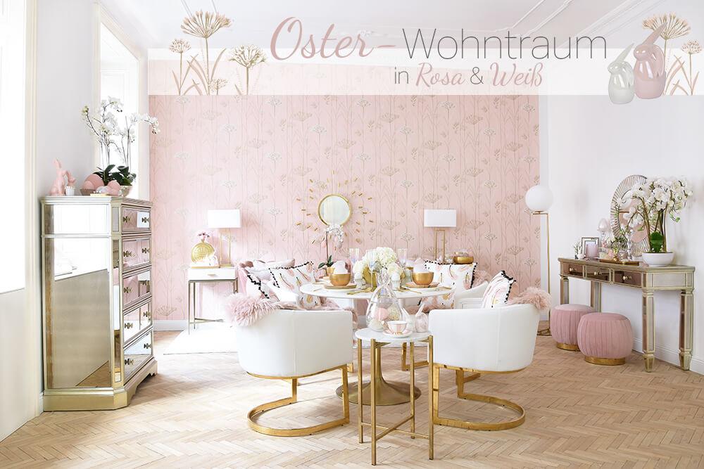Oster-Wohntraum in Rosa & Weiß