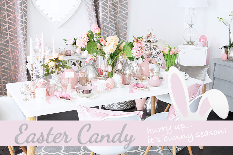 Easter Candy - Ostertafel in Pastell und Silber