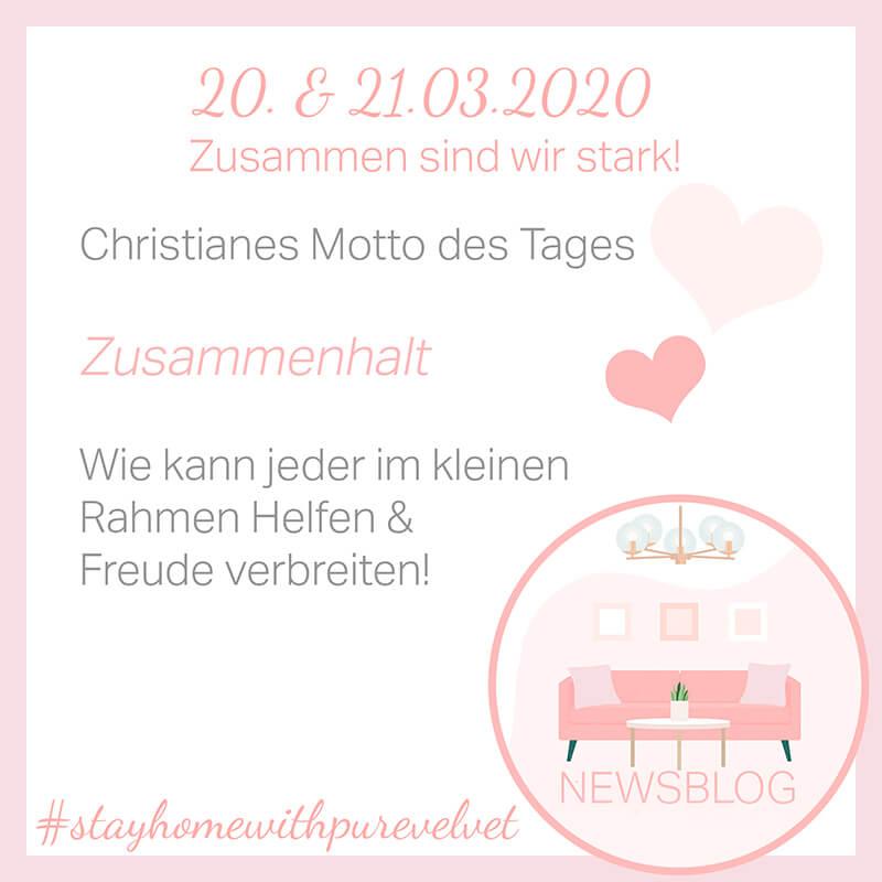 21.3.2020 - Christiane über Zusammenhalt