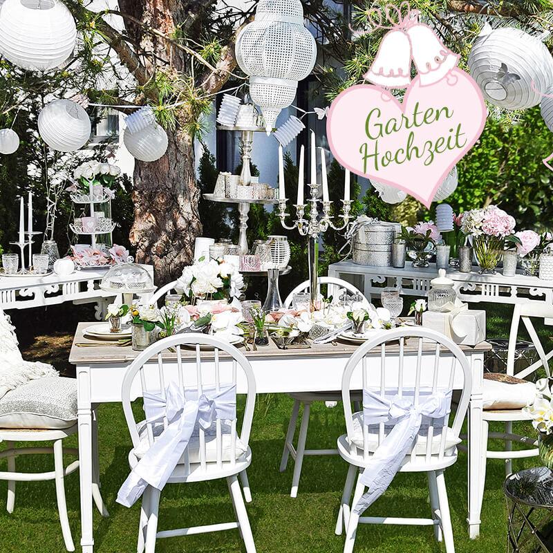 Neuer Look online! Gartenhochzeit in Pastell
