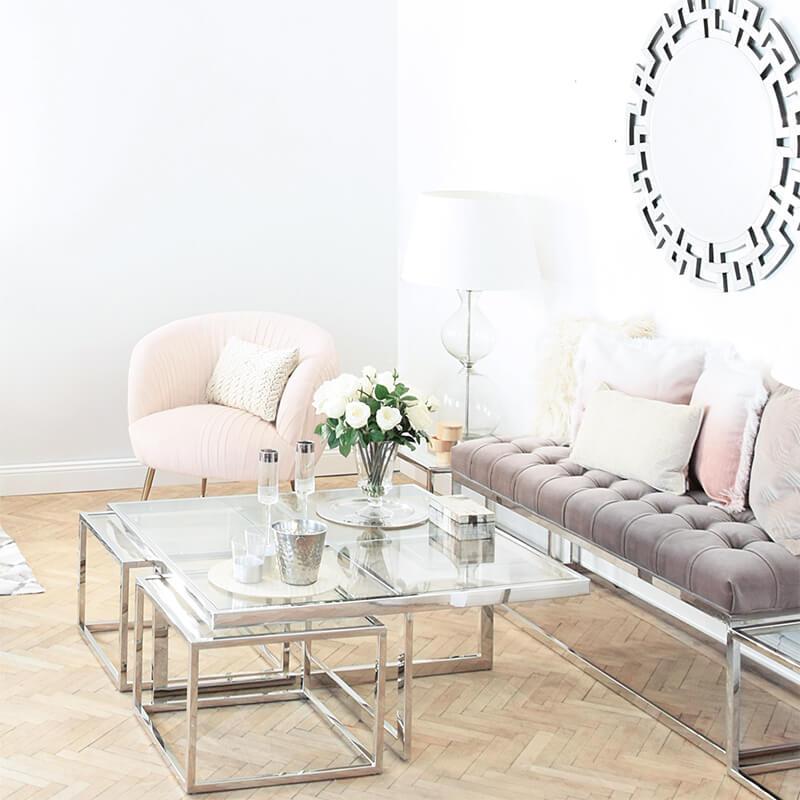 Neuer Wohnzimmer Trend Natural & Glam