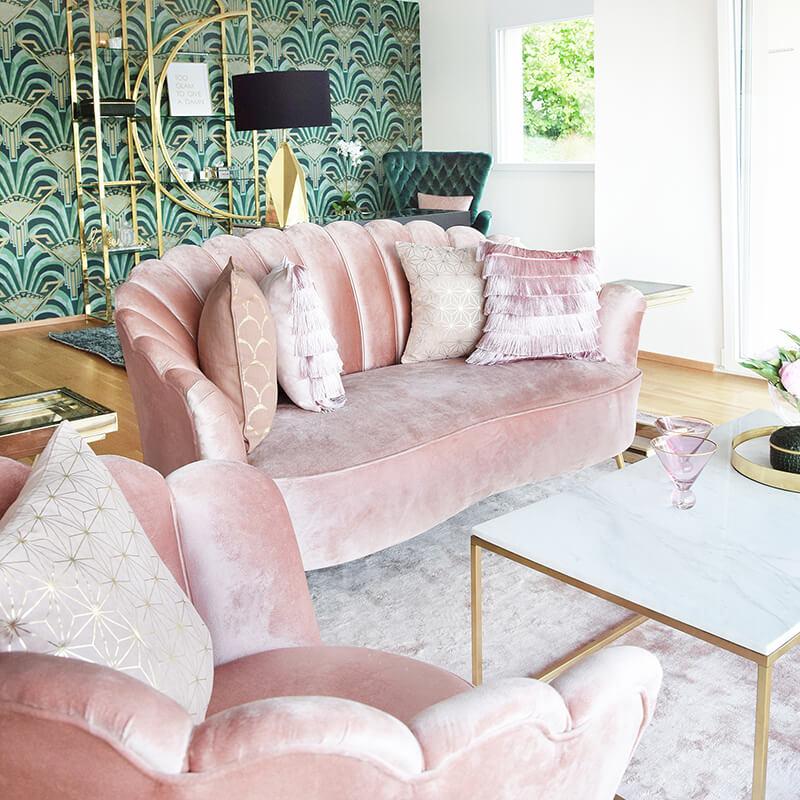 Raffas Wohnzimmer im Beverly Hills Hotel-Style