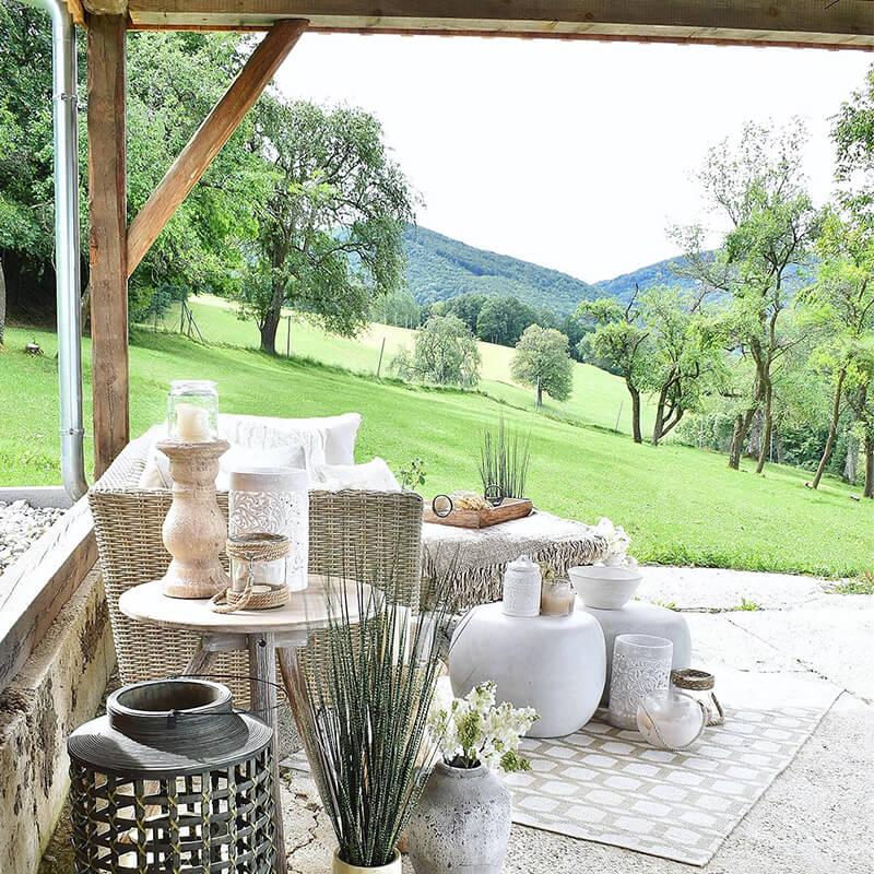 Stylisches Outdoor-Ecksofa im Hygge-Design
