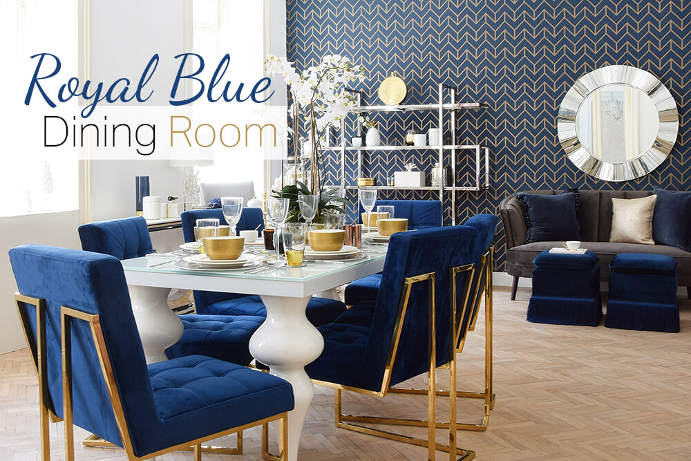 Royal Blue Dining Room - Esszimmer in kräftigem Blau