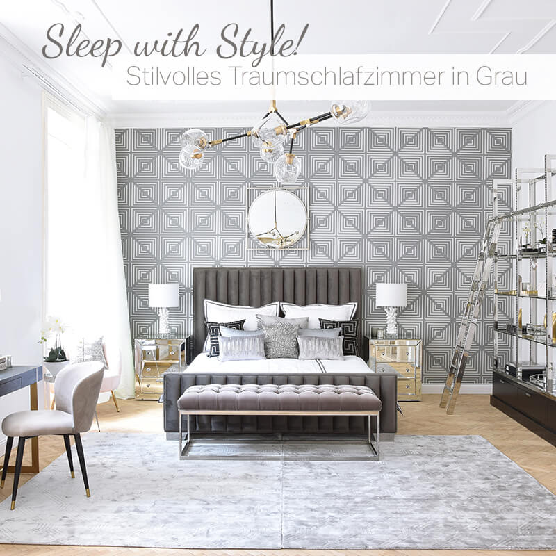Neuer Look: Sleep with Style! Stilvolles Traumschlafzimmer in Grau