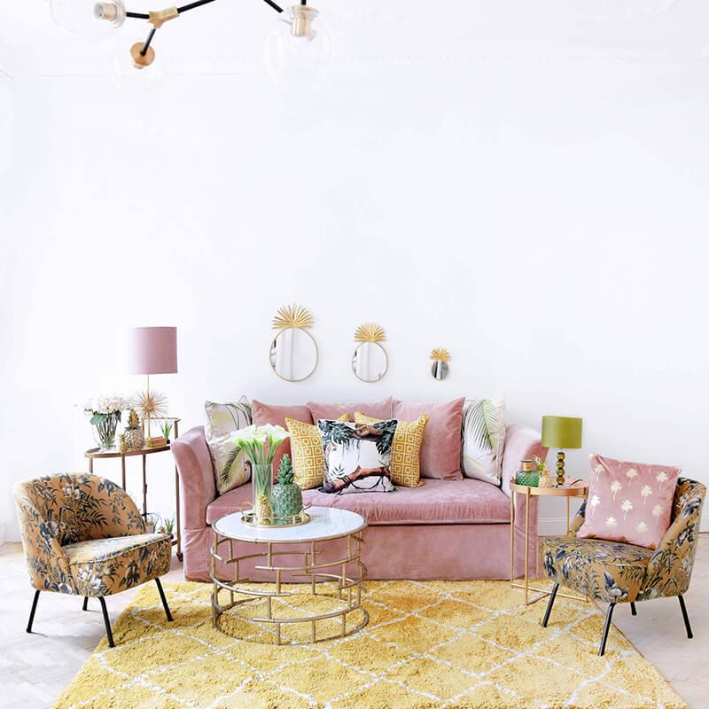 Blätter-Print Möbel im Trend