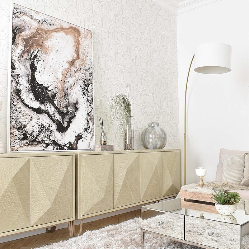 Wohnzimmer Trend: Line Art Style