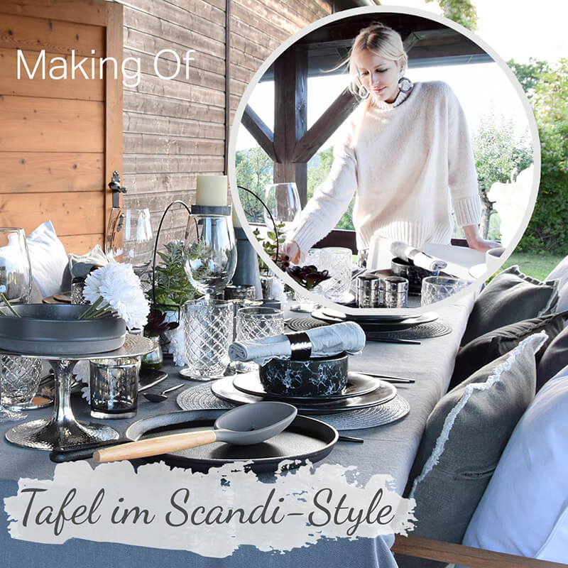 Making of Video- Tafel im Scandi Stil