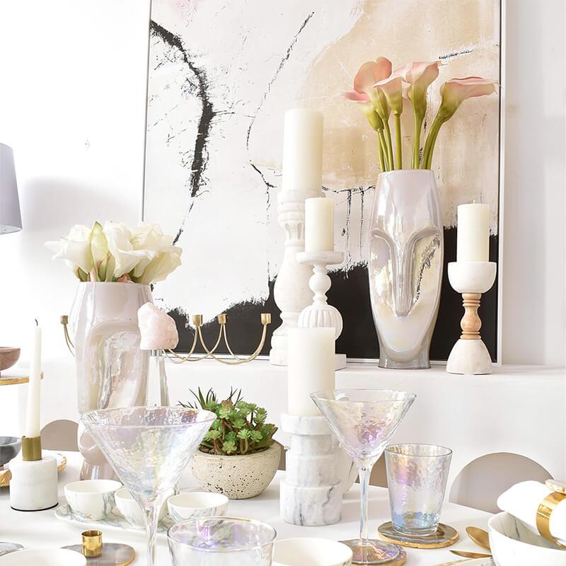 Dining Room Goals: Achat & Marmor Tischgedeck