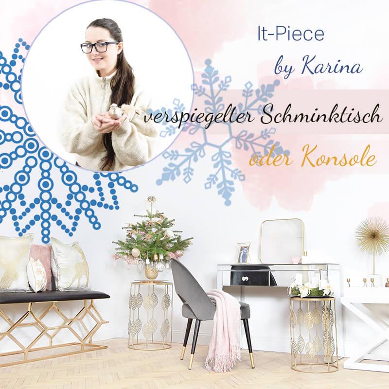 It-Piece verspiegelter Schminktisch & Konsole