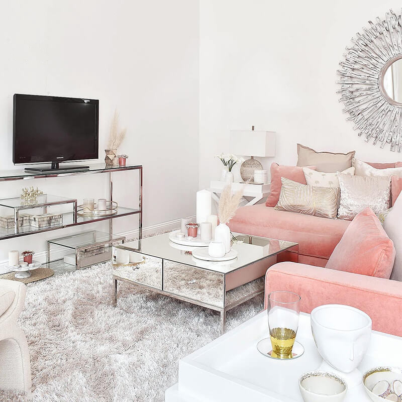 New Look: Living Room in Salmon