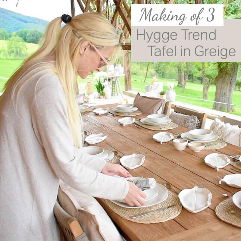 Making Of Video III: Hygge Trend Tafel in Greige