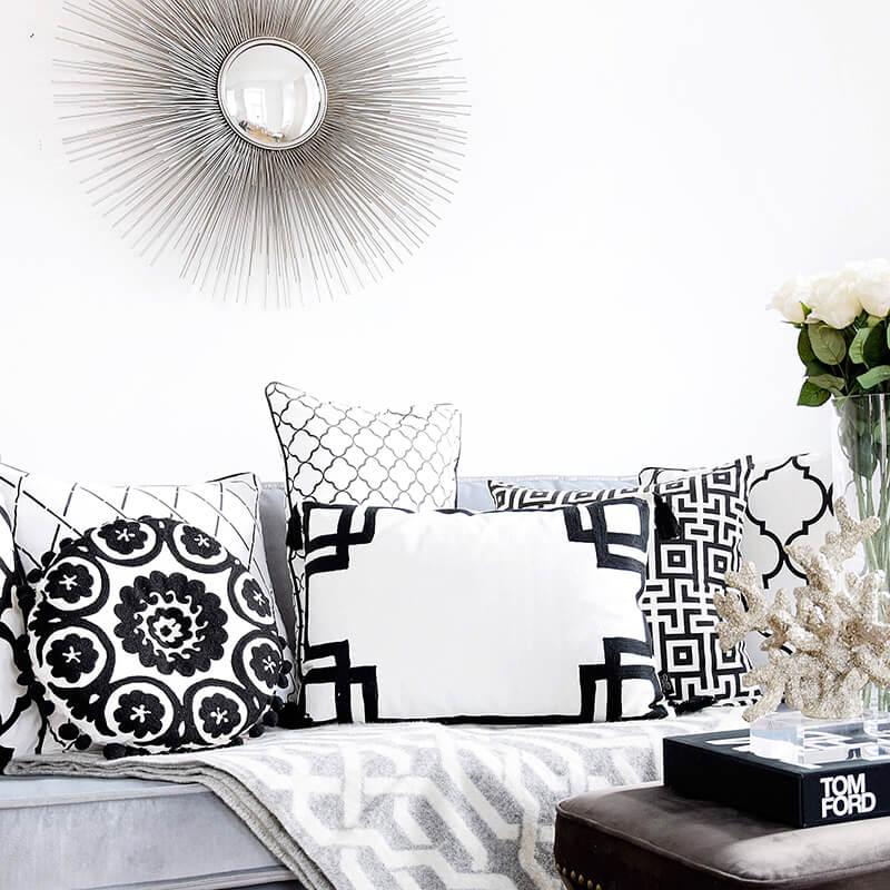 Wohnzimmer im Monochrom-Style
